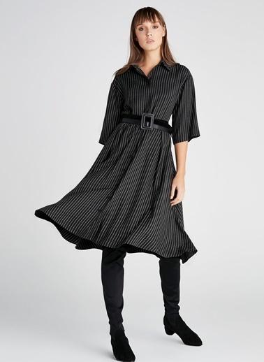 Çizgili Gömlek Elbise-Ipekyol
